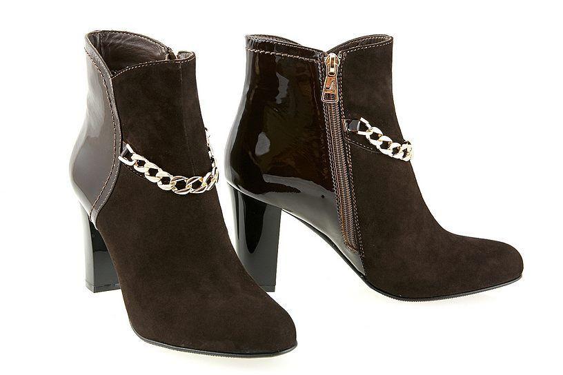 Женские замшевые ботинки на каблуке.  / women's shoes  80153-02 /03