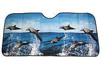 Шторка на лобовое стекло Дельфин