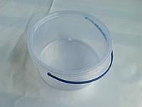 Ведро пластиковое 3л, прозрачное