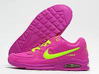 Кроссовки детские Nike Air Max малиновые с салатовым (найк эир макс)