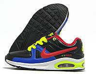 Кроссовки детские Nike Air Max черные с синим и красным (найк эир макс)