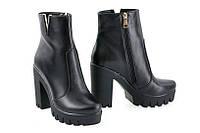 Ботинки женские (кожа;  лакированная кожа;  нубук)