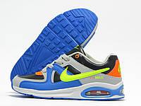 Кроссовки детские Nike Air Max серые с черным и синим (найк эир макс)