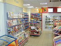 Торговое оборудование для магазина при АЗС в наличии и под заказ. Стеллажи торговые  WIKO (ВИКО)