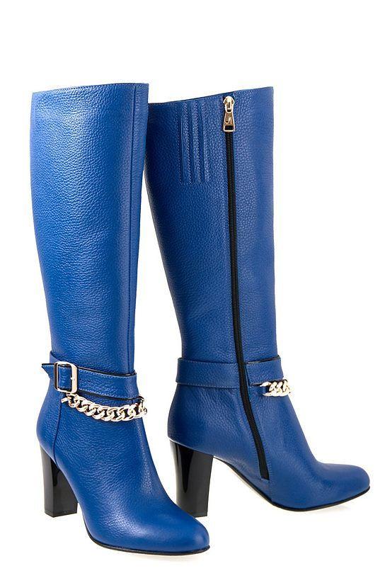 Сапоги кожаные Oscar Fur   80161-18-03 Синий