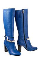 Сапоги кожаные Oscar Fur   80161-18-03 Синий, фото 1