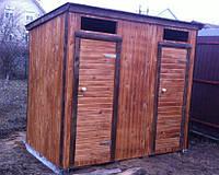 Туалет деревянный с  душевой кабинкой  2,6х1.1 м