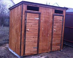 Строительство туалетов деревянных с  душевой кабинкой  2,6х1.1 м