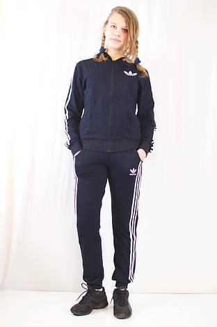 Модний жіночий спортивний костюм Adidas з ластику., фото 2