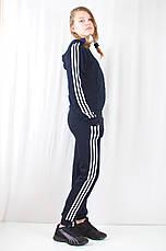 Модний жіночий спортивний костюм Adidas з ластику., фото 3