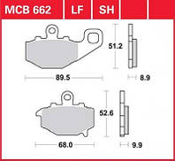 Тормозные колодки Kawasaki TRW / Lucas MCB662