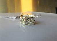 Широкое узорное кольцо из серебра