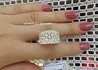 Шикарное кольцо с россыпью камней