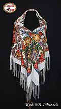Павлопосадский белый платок Алессия, фото 3