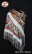 Павлопосадский белый платок Алессия, фото 2