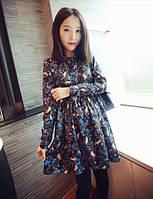 Цветное платье-туника свободного силуэта для будущих мам