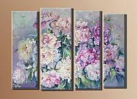 """Модульная картина на холсте """"Букет цветов"""""""