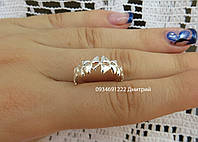 Серебряное кольцо Клевер