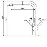 AquaSanita Modus 2383 одноважільний кухонний змішувач з висувним душем, фото 2