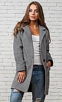 Модное  женское  драповое пальто-кардиган
