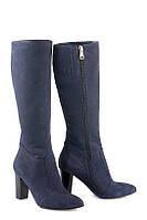 Темно-синие сапоги на каблуке / Women's shoes 80106-1-06, фото 1