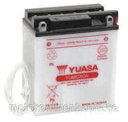 Акумулятор для мотоцикла сухозаряженный YUASA YB12A-B 12,6 AH 134X80X160, фото 2