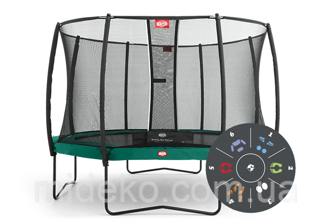 Батут Berg Favorit 430 Tattoo + Safety Net Deluxe 430