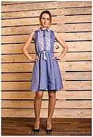 """Платье вышитое """"Галичина"""" лён ( арт. PK12-104.0.11 ), фото 1"""
