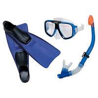 Набор для плавания (маска + трубка + ласты) Intex 55957