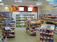 Стеллажи торг0овые для АЗС. Торговое оборудование WIKO (ВИКО) для магазина. Торговая мебель для АЗС