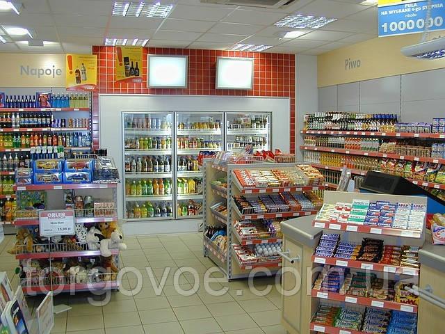 Новое торговое оборудование для магазина при АЗС. Разработка в индивидуальных цветах и размерах, фото 1