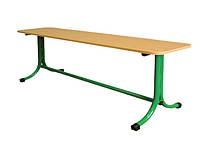 Лавка без спинки для школьной столовой