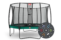 Батут Berg Elit+Regular Green Tattoo 430+Safety Net T-series 430