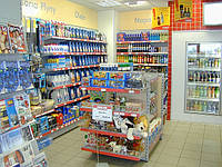 Торговое оборудование для АЗС. Стеллажи торговые для АЗС. WIKO (ВИКО). Торговое оборудование в магазин