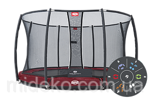 Батут Berg Elite+ Inground Green 430 Tattoo+Safety Net T-series 430