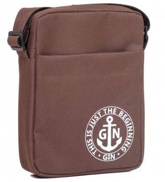 Удобная наплечная сумка с отделением для планшета GIN 1736-brown