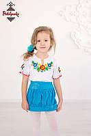 Вишита футболка для дівчинки Барвінок
