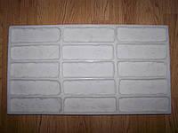 """Форма силиконовая  """"Средневековый кирпич"""" для изготовления гипсовой плитки"""