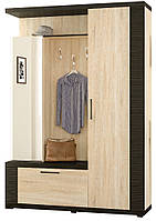 Мебель-Сервис  прихожая Марк 2166х1550х445мм венге темный + дуб самоа