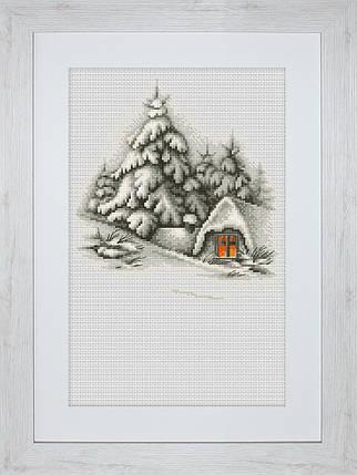 """Набор для вышивания нитками  """"Зимний пейзаж"""", фото 2"""
