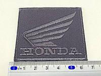 Нашивка HONDA цвет темно серый 67x54мм