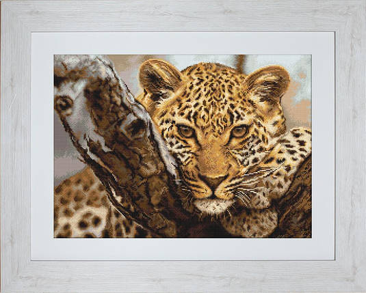 """Набор для вышивания нитками  """"Леопард"""", фото 2"""