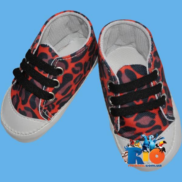 """Детская обувь для малюток """"Леопардик"""" от 0-4 мес,4-8 мес,8-12 мес"""