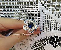 Кольцо Роскошный цветок из серебра
