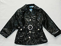 Куртка для девочки весна-осень 2-3-4-5-6 лет Лак