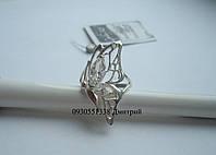 Серебряное кольцо в форме бабочки