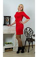 Платье с бантом красное