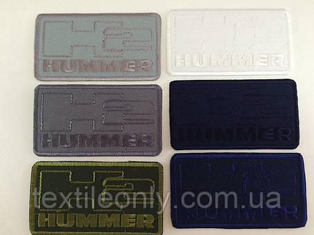 Нашивка Hummer цвет черный 77x43мм, фото 2