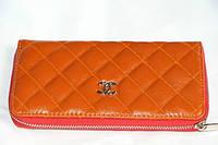 Кошелек женский с искусственной кожи оранжевый  Chanel