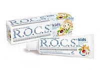 Зубная паста Rocs для детей Фруктовый рожок (без фтора) 45 гр